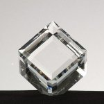 Mounted Beveled Cube Clear Optical Crystal Awards